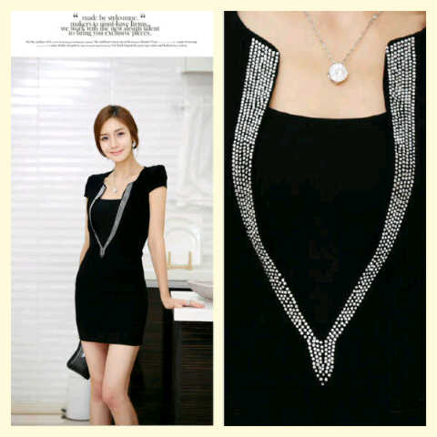 jual dress cantik (bodycon shasa) -IDR@85k. (Sold Out)